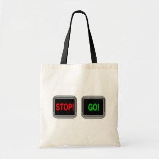 Stop Go Budget Tote Bag