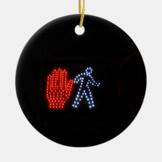 Stop Go Ceramic Ornament