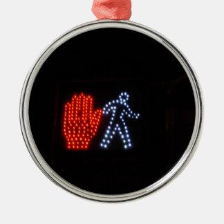 Stop Go Metal Ornament