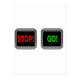Stop Go Postcard