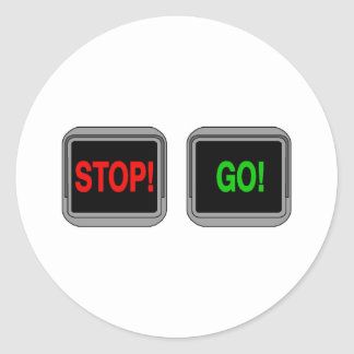 Stop Go Round Sticker