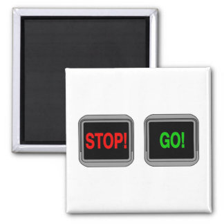 Stop Go Square Magnet