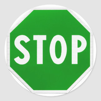 Stop Go Yes No Classic Round Sticker