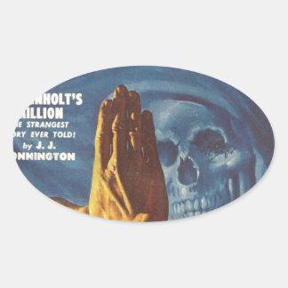 Stop, Grim reaper! Oval Sticker