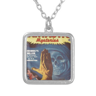 Stop, Grim reaper! Silver Plated Necklace