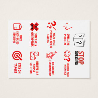 "Stop Guessing Pocket Card, 2.5"" x 3.5"" Business Card"