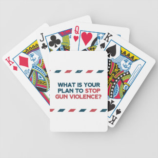 Stop Gun Violence Bicycle Playing Cards