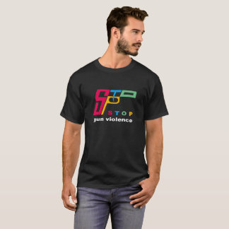 Stop gun violence (dark) T-Shirt