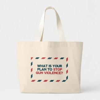 Stop Gun Violence Large Tote Bag