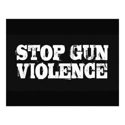 Stop Gun Violence Personalized Letterhead
