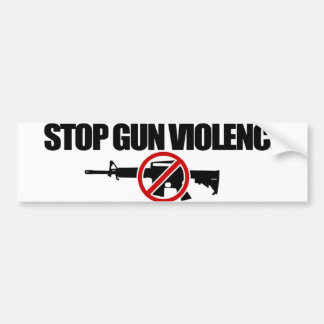 Stop Gun Violence NOW! Bumper Sticker
