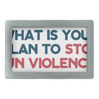 Stop Gun Violence Rectangular Belt Buckles