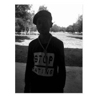 STOP HATING Postcard