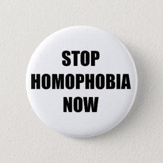 Stop homophobia 2 inch round button