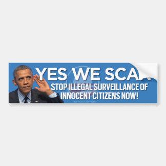 Stop Illegal Citizen Surveillance Now Bumper Sticker