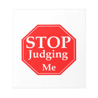 Stop Judging Notepad