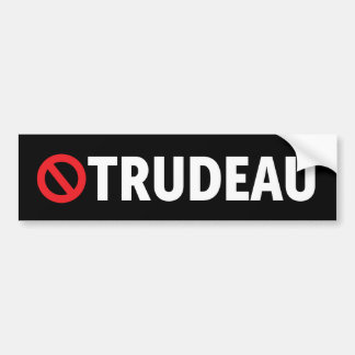 Stop Justin Trudeau Canada Liberal Bumper Sticker