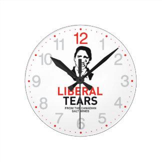 Stop Justin Trudeau Canada Liberal TEARS Round Clock