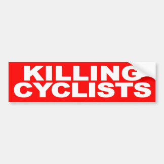 [STOP] Killing Cyclists Bumper Sticker