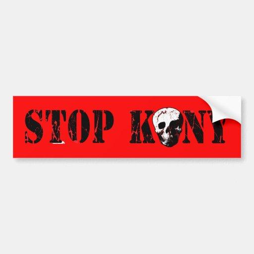 Stop Kony Car Bumper Sticker