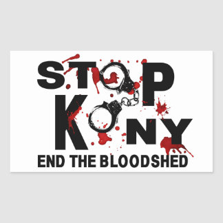 Stop Kony. End the Bloodshed. Sticker