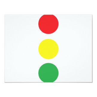 "stop light icon 4.25"" x 5.5"" invitation card"