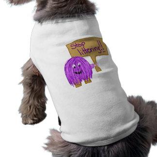 stop littering doggie t shirt