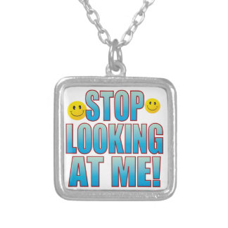 Stop Looking Life B Silver Plated Necklace