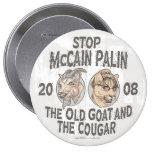 Stop McCain Palin 2008 Buttons