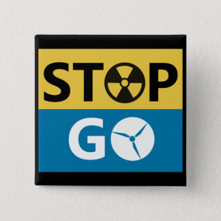 Stop Nuclear 2 Inch Square Button