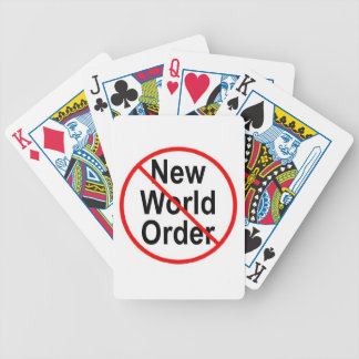 Stop NWO Bicycle Playing Cards