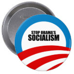 STOP OBAMA SOCIALISM BUTTON