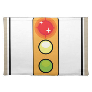 Stop on red Photo enforced Sign Place Mat
