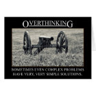 Stop overthinking the solutions to problems card