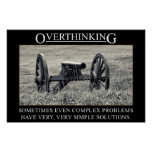 Stop overthinking the solutions to problems (S) Print
