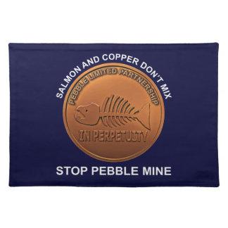 Stop Pebble Mine - Pebble Mine Penny Place Mats