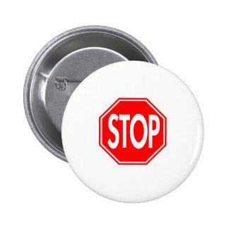 Stop Pinback Button