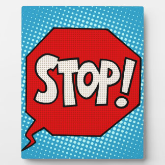 Stop Plaque