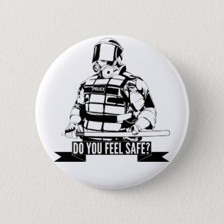 Stop Police Brutality Art for Occupy Movements 2 Inch Round Button