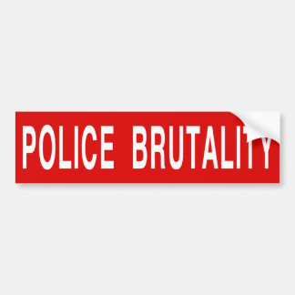 [STOP] POLICE BRUTALITY (large) Bumper Sticker