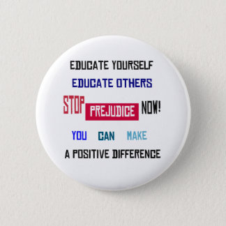 Stop Prejudice Button (white)