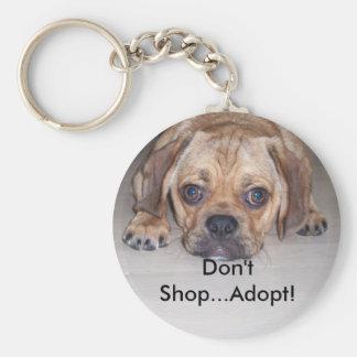 Stop Puppy Mills Keychain