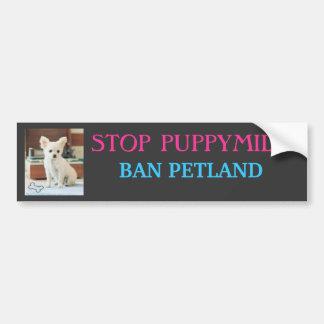 STOP PUPPYMILLS, BAN PETLAND BUMPER STICKER