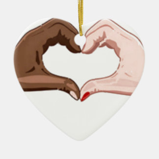 Stop Racism Ceramic Ornament