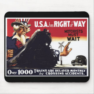 Stop Railroad Crossing Accidents Mouse Pad