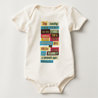 stop reading the texts, cool fresh design baby bodysuit