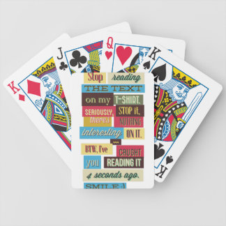 stop reading the texts, cool fresh design bicycle playing cards