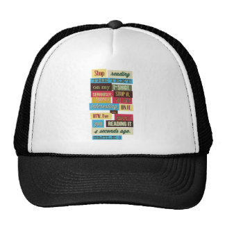 stop reading the texts, cool fresh design trucker hat