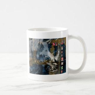 Stop Rhino Poachers Wildlife Conservation Art Coffee Mug