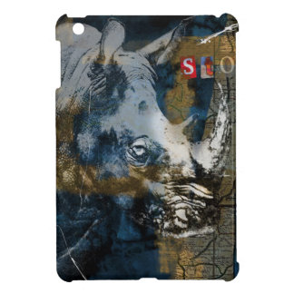 Stop Rhino Poachers Wildlife Conservation Art iPad Mini Case